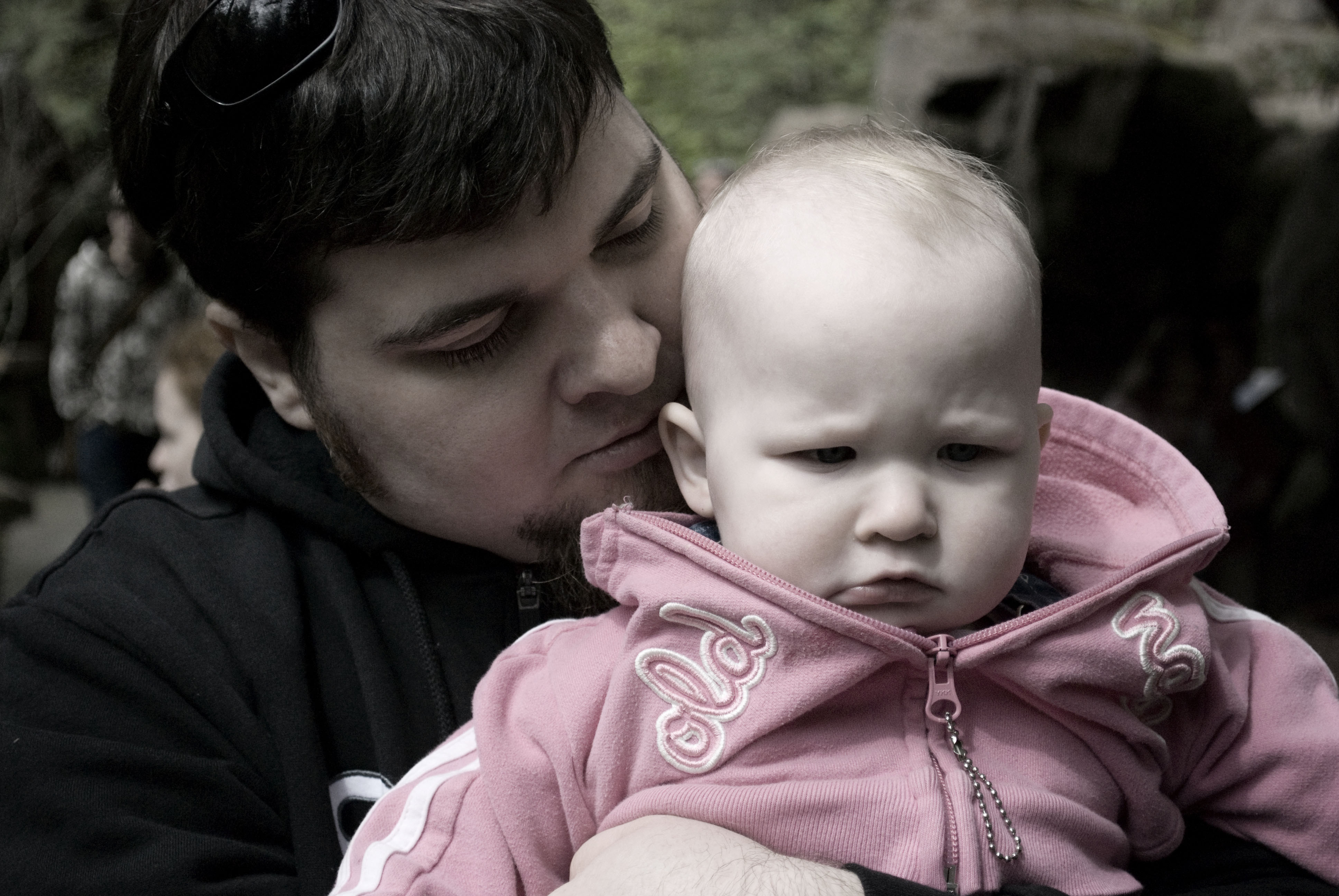 Pouting with Daddy